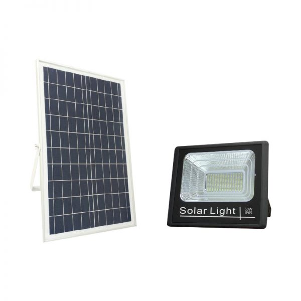 50 watts led solar flood lights security pir sensor motion for outdoor