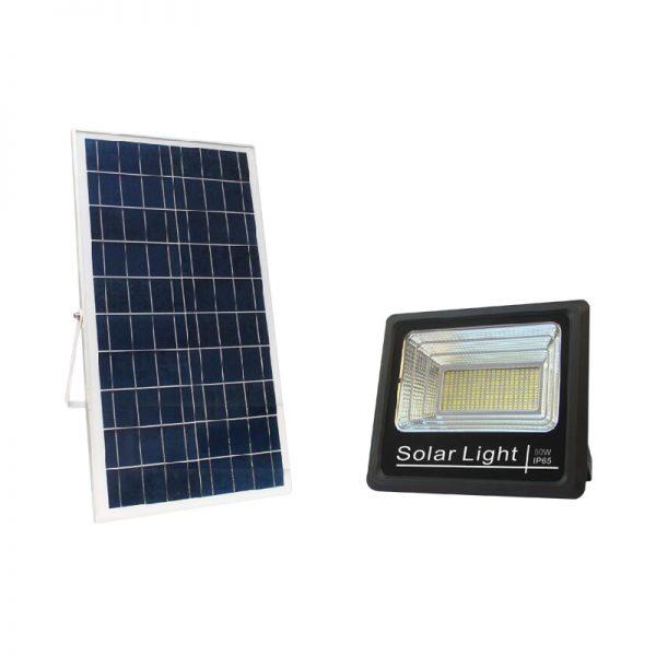commercial grade solar flood light 80 watts for playground lighting