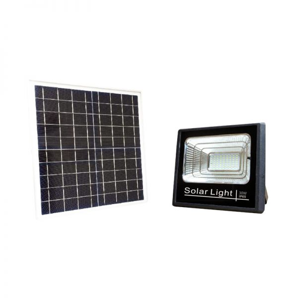 solar led landscape flood light 30w stay on all night with timer